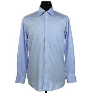 Eton Dress Shirt Blue Size 16 X 34 Made to Measure